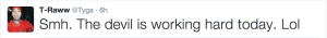 Tyga's response